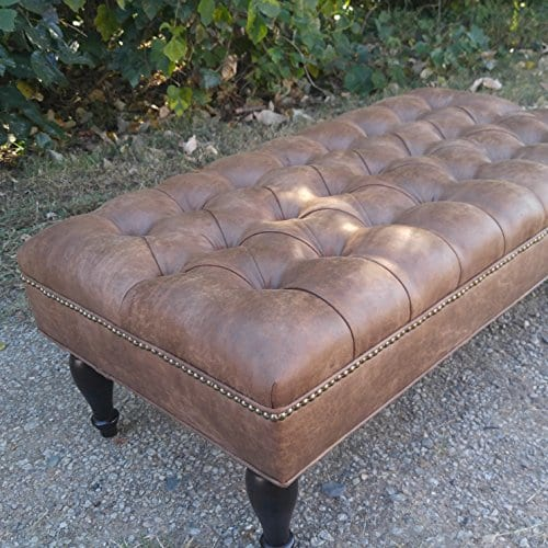Design 59 Large Leather Tufted Ottoman 46 Quot X24