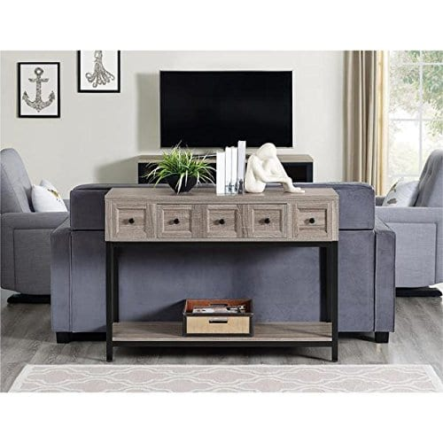 Altra Barrett Sonoma Modern Farmhouse Console Table Brown Oak Finish 0 0