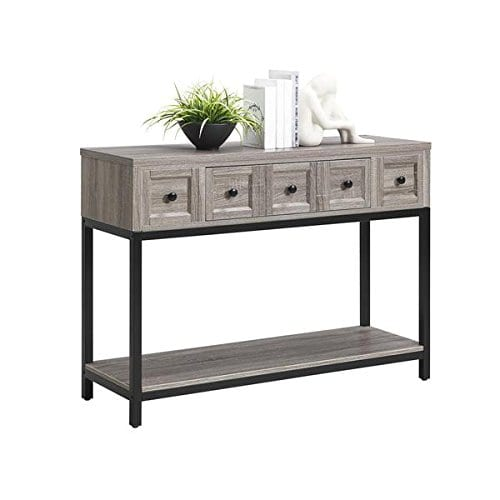 Altra Barrett Sonoma Modern Farmhouse Console Table Brown Oak Finish 0 1