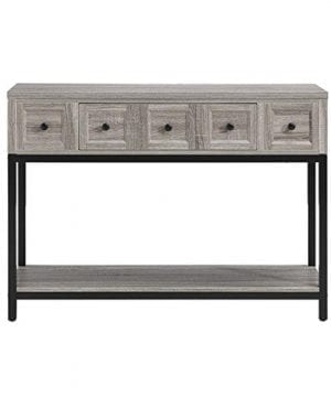 Altra Barrett Sonoma Modern Farmhouse Console Table Brown Oak Finish 0 2 300x360