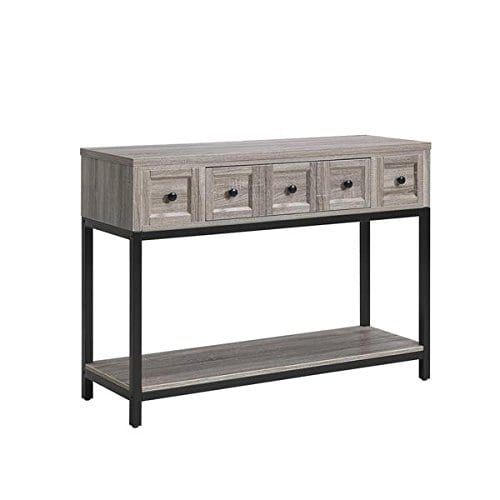 Altra Barrett Sonoma Modern Farmhouse Console Table Brown Oak Finish 0 3