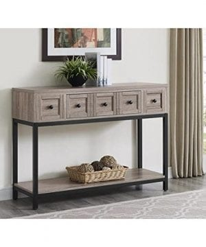 Altra Barrett Sonoma Modern Farmhouse Console Table Brown Oak Finish 0 300x360