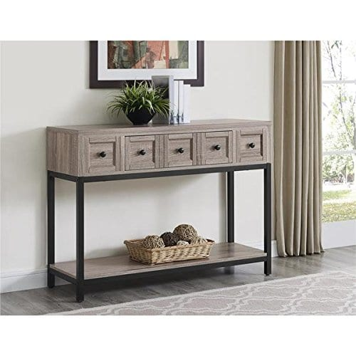 Altra Barrett Sonoma Modern Farmhouse Console Table Brown Oak Finish 0