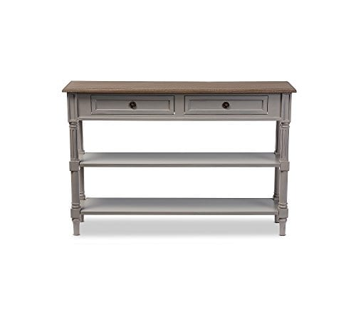 Baxton Studios Edouard 2 Drawer Console Table 0