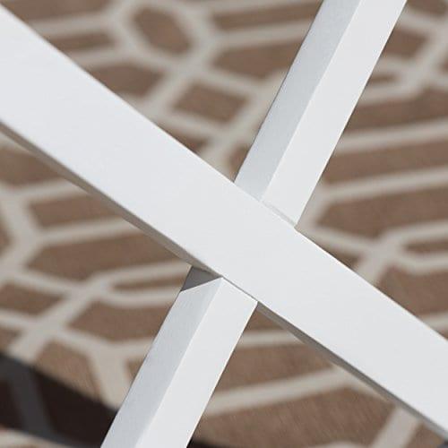 Cassandra Outdoor Farmhouse Cottage Dark Oak Acacia Wood End Table With White Frame 0 2