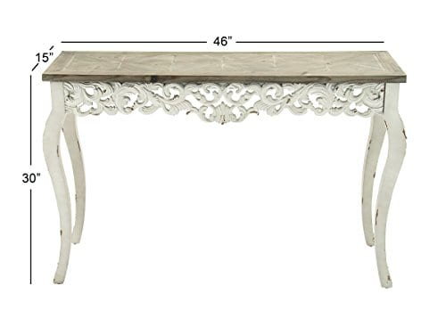 Deco 79 56564 Wood Carved Console Table 46 X 30 0 1