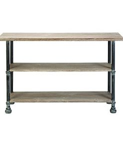 Deco-79-66670-Wood-Metal-Console-48-x-32-Brown-0