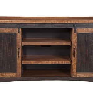 Martin Svensson Home Santa Fe 65 TV Stand Antique Black And Aged Distressed Pine 0 0 300x333
