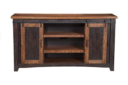 Martin Svensson Home Santa Fe 65 TV Stand Antique Black And Aged Distressed Pine 0 0
