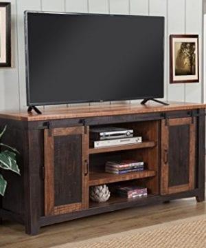 Martin Svensson Home Santa Fe 65 TV Stand Antique Black And Aged Distressed Pine 0 2 300x360