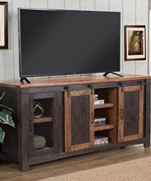 Martin Svensson Home Santa Fe 65 TV Stand Antique Black And Aged Distressed Pine 0 3 300x360
