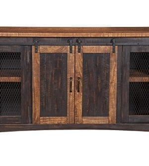 Martin Svensson Home Santa Fe 65 TV Stand Antique Black And Aged Distressed Pine 0 300x333