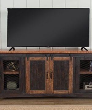 Martin Svensson Home Santa Fe 65 TV Stand Antique Black And Aged Distressed Pine 0 4 300x360