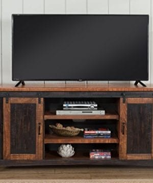 Martin Svensson Home Santa Fe 65 TV Stand Antique Black And Aged Distressed Pine 0 5 300x360