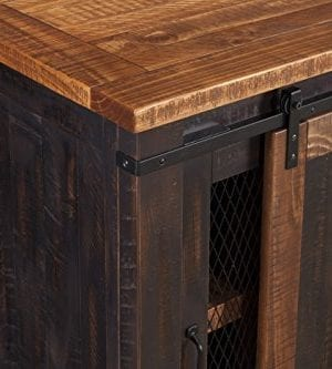 Martin Svensson Home Santa Fe 65 TV Stand Antique Black And Aged Distressed Pine 0 6 300x333
