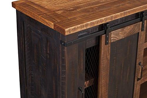 Martin Svensson Home Santa Fe 65 TV Stand Antique Black And Aged Distressed Pine 0 6