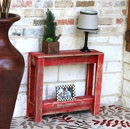 Red End Table 0
