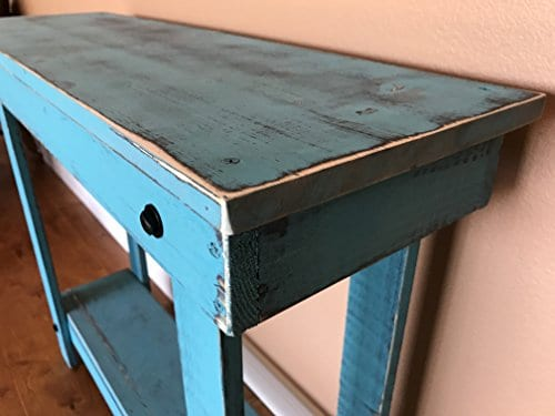 Rustic Handcrafted Reclaimed Console Table Self Assembly 0 0