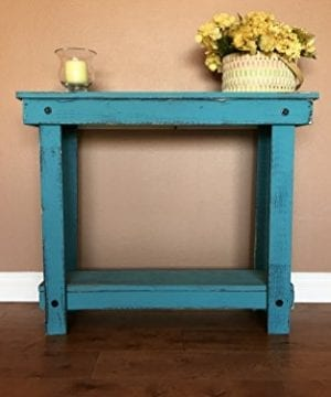 Rustic Handcrafted Reclaimed Console Table Self Assembly 0 300x360