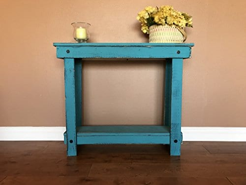 Rustic Handcrafted Reclaimed Console Table Self Assembly 0