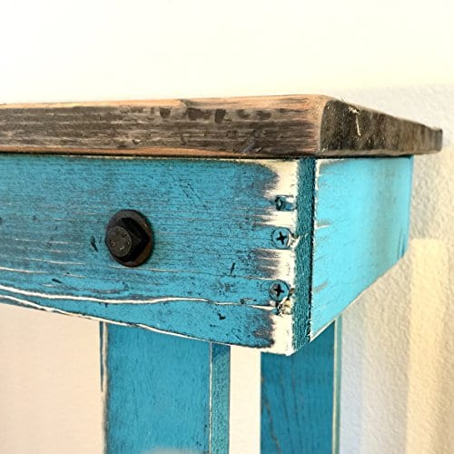Rustic Handcrafted Reclaimed End Table Self Assembly White 0 0