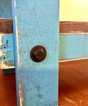 Rustic Handcrafted Reclaimed End Table Self Assembly White 0 1 300x360