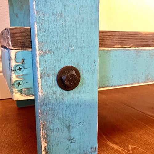 Rustic Handcrafted Reclaimed End Table Self Assembly White 0 1