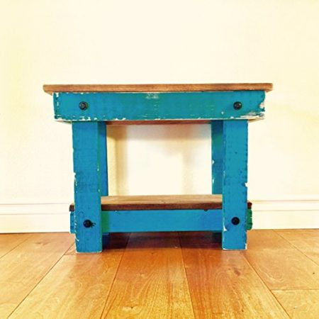 Rustic-Handcrafted-Reclaimed-End-Table-Self-Assembly-White-0