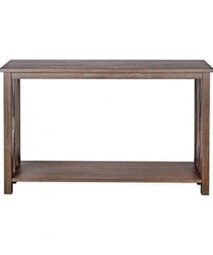Sofa Table Solid Wood Rustic Farmhouse Style Console Table East End Collection Weathered Gray Living Room Furniture 0 0 300x360