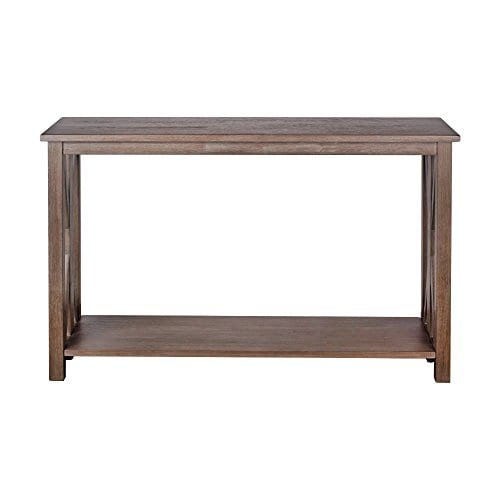Sofa Table Solid Wood Rustic Farmhouse Style Console Table East End Collection Weathered Gray Living Room Furniture 0 0