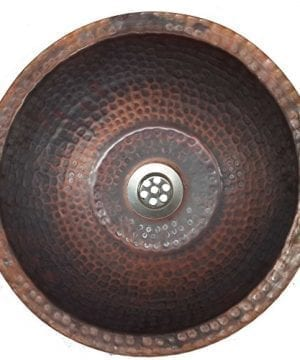 14 Vessel Fire Burnt Copper Bathroom Sink Flat Bottom Toilet Lavatory Basin By Egypt Gift Shops 0 300x360