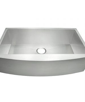 AKDY 33 Single Bowls 18 Gauge Undermount Apron Handmade Stainless Steel Kitchen Sink 1