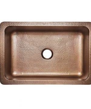 Adams Farmhouse Apron Front Handmade Copper Kitchen Sink 33 In Single Bowl In Antique Copper 0 2 300x360