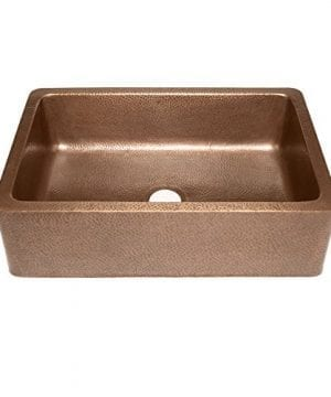 Adams Farmhouse Apron Front Handmade Copper Kitchen Sink 33 In Single Bowl In Antique Copper 0 300x360