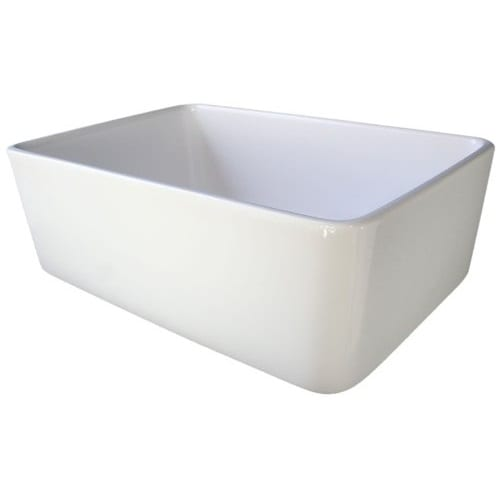Alfi Brand 23 Inch Fireclay Single Bowl Farmhouse Sink White