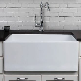 Alfi Brand 26 Inch Smooth Fireclay Farmhouse White Sink
