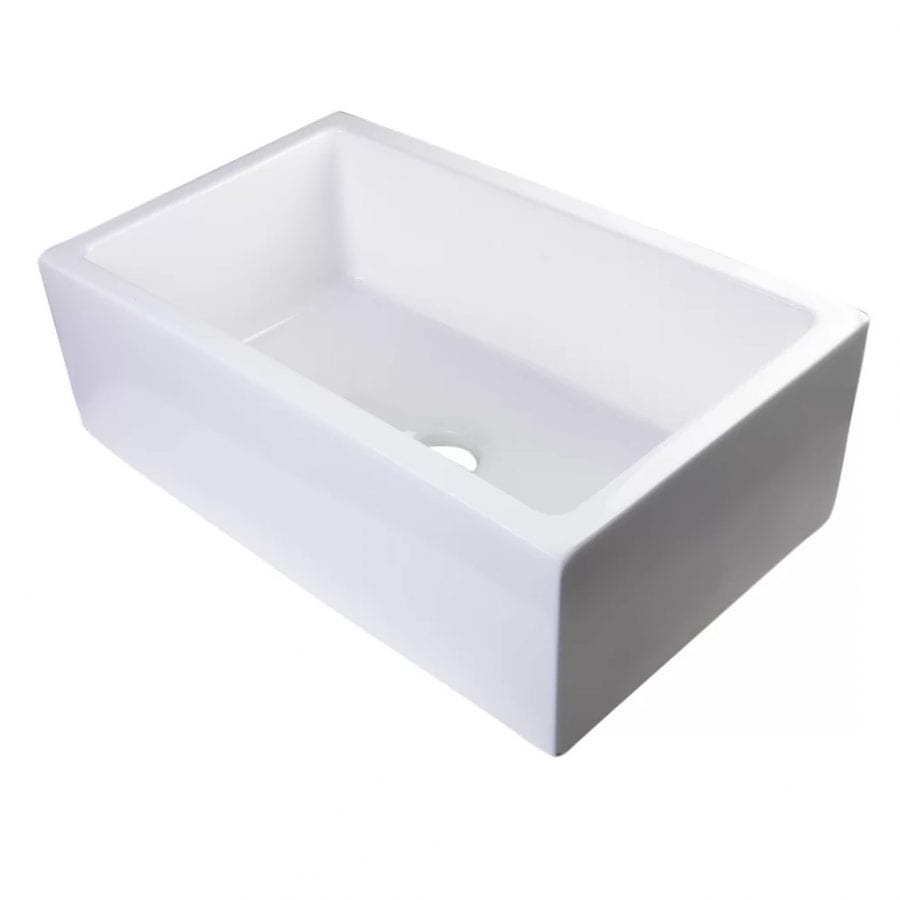 Alfi Brand 30 Inch Thick Wall Fireclay Farmhouse Sink