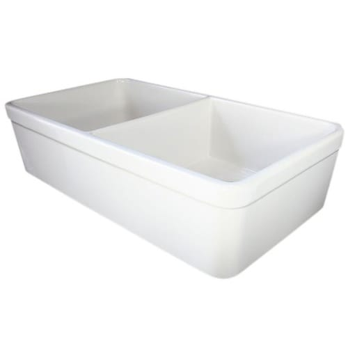 Alfi Brand 32 Inch Double Bowl Fireclay Farmhouse Kitchen Sink