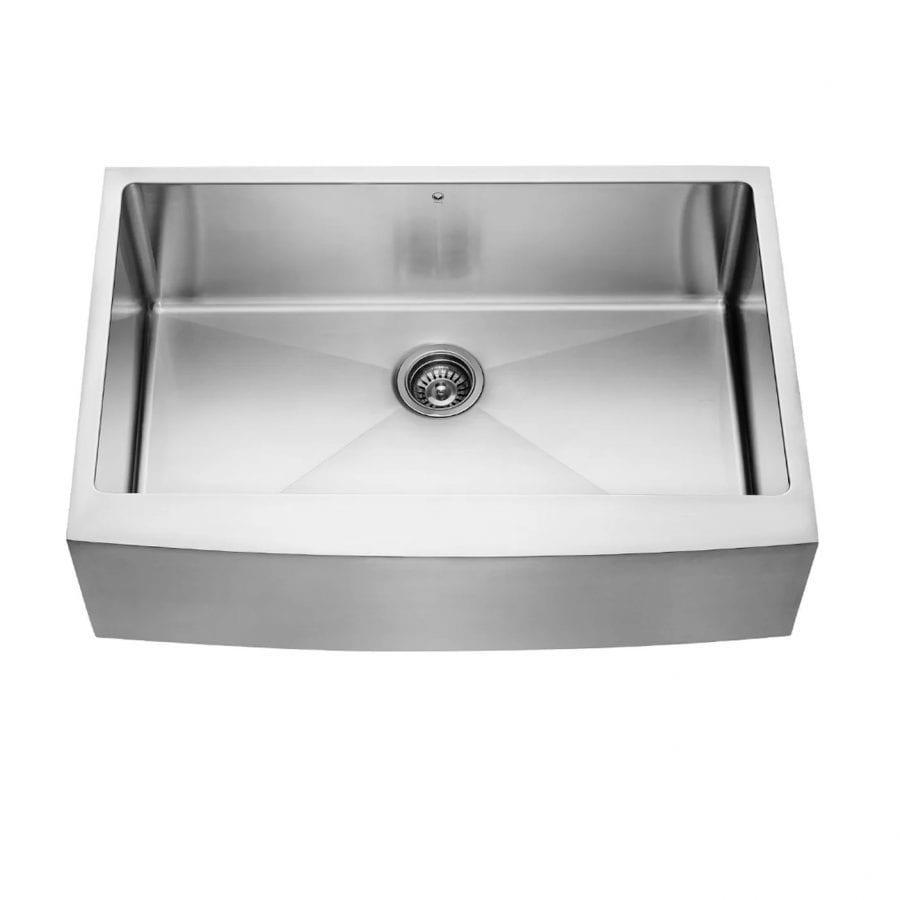 Alma 33 inch Farmhouse Apron 16 Gauge Stainless Steel Kitchen Sink 2