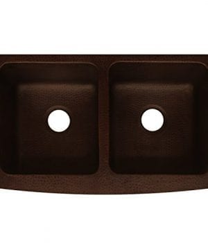 Antica Farmhouse Apron Front Copper Kitchen Sink Double Bowl 0 300x360