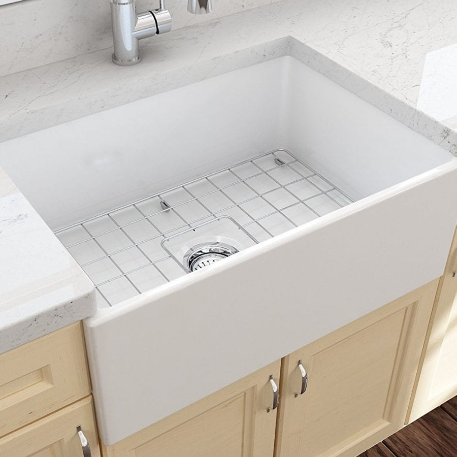 BOCCHI Contempo Farmhouse Apron Front Fireclay 27 Inch Sink