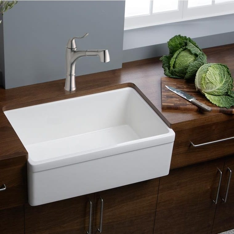Elkay Fireclay 30 Inch White Farmhouse Kitchen Sink