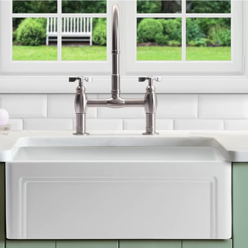 Empire Industries Olde London Reversible Farmhouse Kitchen Sink 33 Inch