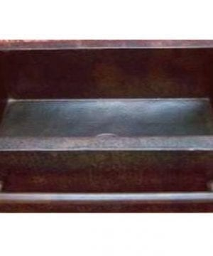 Farmhouse Apron Copper Sink With Integrated Towelbar Dark Large 36x22x9 0 300x360