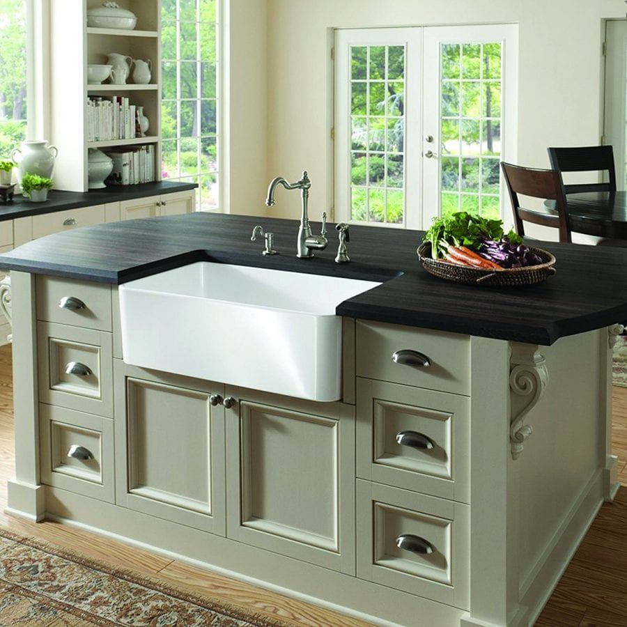 Fine Fixtures Butler 30 Inch Fireclay Farmhouse Kitchen Sink