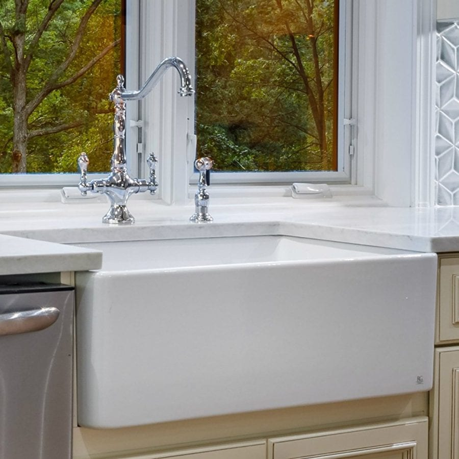 FineFixtures Sutton 30 Inch Fireclay Kitchen Sink
