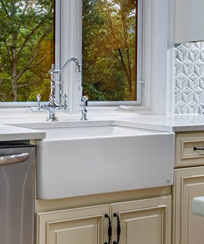 Finefixtures Sutton 30 Fireclay Sink 0