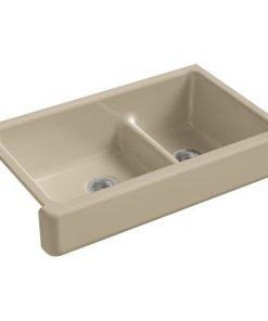 KOHLER-Whitehaven-Smart-Divide-Self-Trimming-Under-Mount-Apron-Front-Double-Bowl-Kitchen-Sink-with-Short-Apron-0-0