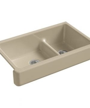 KOHLER-Whitehaven-Smart-Divide-Self-Trimming-Under-Mount-Apron-Front-Double-Bowl-Kitchen-Sink-with-Short-Apron-0-0