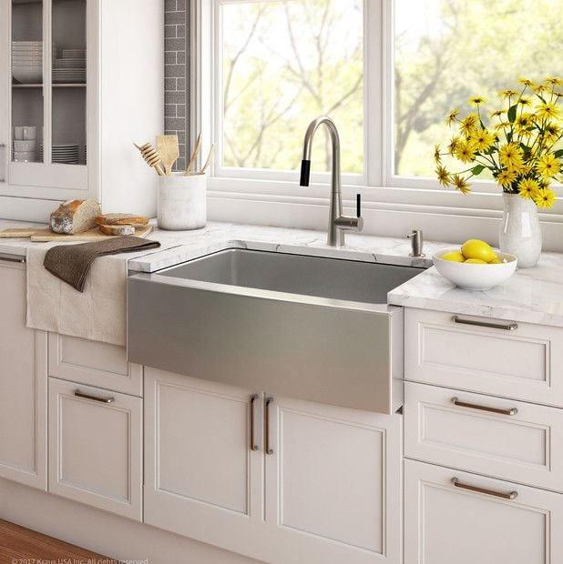 Kraus 30 Farmhouse Apron Single Bowl 16 Gauge Stainless Steel Kitchen Sink